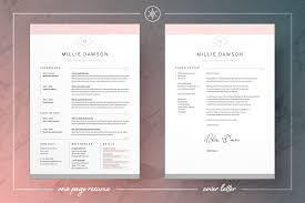 Modern Resume Cover Letters Elegant Modern Resume Cv Cover Letter Templates Millie By Keke