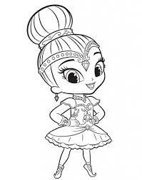 Shimmer And Shine Coloring Pages Con Shimmer And Shine Immagini Da
