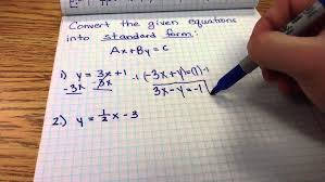 converting linear equations to standard form you of equation calculator maxresde standard form of linear equation