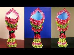 Flower Vase With Paper Paper Made Flower Vase 2018 Craft Ana