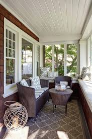 wicker furniture for sunroom. Wicker Furniture For Sunroom Built In Wall Bench Traditional With Shingle Siding Ceiling Discount