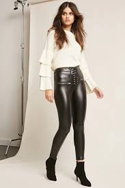 faux leather pants from forever 21