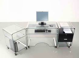 l shaped office desk ikea. Home Office Interior Furniture Inspiring L Shaped Glass Clear Top Puter Desk With Chrome Stand Frame Ikea U