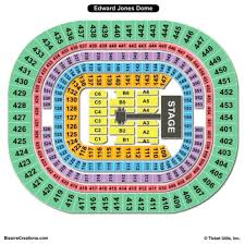 Scottrade Center Seating Chart The Dome At Americas Center Seating Chart Seating Chart