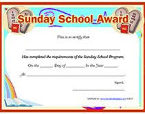 certificates of completion for kids sunday school certificate printable but what else fun to