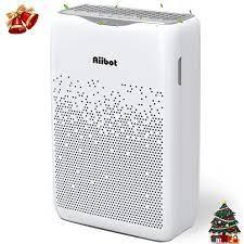 Aiibot hava temizleyici, filtre toz, Pet Dander, duman, alerjenler ve  kalıp, gece modu, 3 Fan hızı, 4 1 yedek filtre|Hava Temizleyicileri