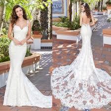 kitty chen 2017 mermaid wedding dresses backless spaghetti neck