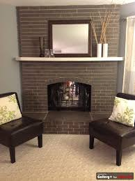 painted an outdated red brick fireplace chocolate brown