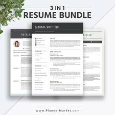 Professional And Irresistible Ms Word Resume Bundle Curriculum Vitae For Digital Download To Help You Land Your Dream Job The Barbara Resume Bundle