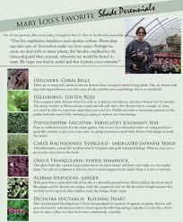 Shade Perennials List