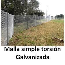 Cerramiento Con Vallas Y Mallas De Simple De Torsión Galvanizada