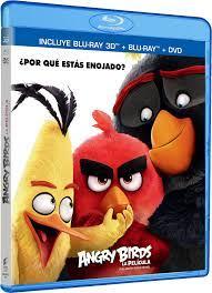 Angry Birds La Película 3D ANGRY BIRDS MOVIE 3D Blu-ray 3D + Blu-ray + DVD  English, Spanish & French Audio and Subtitles Region FREE: Amazon.de: DVD &  Blu-ray