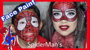 spiderman makeup tutorial face paint spider makeup mimirosas