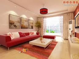 Living Room With Red Furniture Enchanting Red Living Room Color Ideas With Red Sofa And White