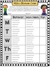 Free Editable Behavior Chart Weekly Behavior Chart Editable Free