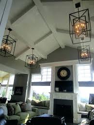 Great Room Lighting High Ceilings Chandelier High Ceiling Living ...