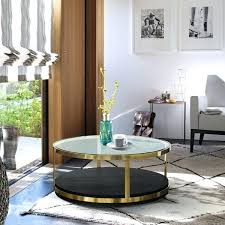 armen living coffee table living round glass top coffee table in brushed silver armen living maxton