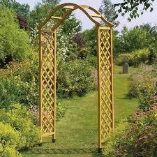 elegance wooden arch tan