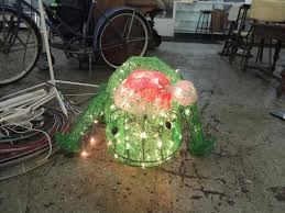 Light Up Christmas Frog Outdoor Decoration