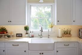 moen kitchen faucets in Kitchen Transitional with Melon Color next