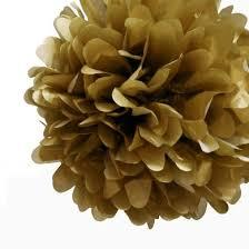 How To Make Fluffy Decoration Balls EZFluff 100'' Gold Tissue Paper Pom Poms Flowers Balls 66