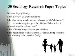 sociology research paper topics