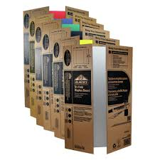 storage and transportation are easy with elmer s tri fold display board this corrugated display board folds to half its size when closed for portability