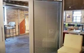 office glass walls. Showroom-enclosed-blinds-in-office-glass-wall-ntxtwall Office Glass Walls