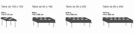 Table 6 Personnes Dimensions Luxe Linge De Table : Table Basse Rangement