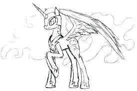 coloring pages my little pony coloring pages princess cadence full grown up prin filly page