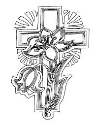 Cross Color Page Crosses Coloring Pages Cross Color Page For Adults