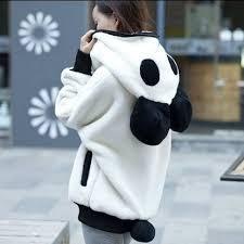 Oversized Panda Hoodie (2 Colors) в 2020 г. | Флисовая толстовка ...