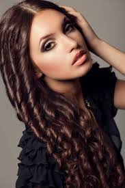 image of long curly weave hairstyles