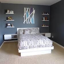 Teenage Boys Bedroom White Furniture Platform Bed Floating - Diy boys bedroom