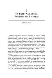 air traffic congestion problems and prospects cities and page 222