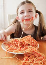 Image result for child eating spaghetti