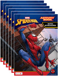 The most common spiderman art material is paper. Marvel S Spider Man 32 Page Coloring And Activity Book With Stickers Pack Of 6 Walmart Com Walmart Com