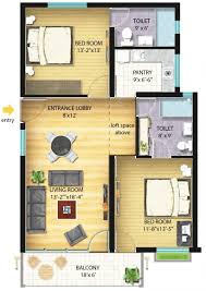 awesome house plan for double bedroom