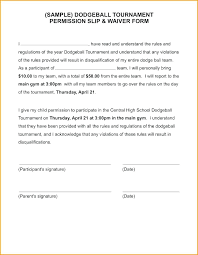 Sample Permission Slips For Field Trips Permission Forms Template Sample Parental Consent Form