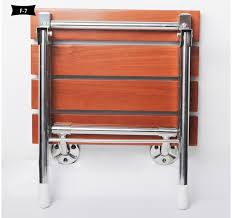 wall chair wall seat solid wood folding shower seat spacing saving wall mounted morden seat relaxation in waiting chairs from furniture on aliexpress com