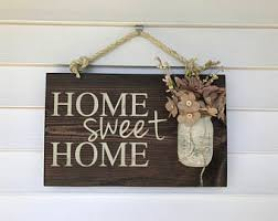large home sweet home rustic wood sign hand painted home