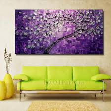 free big size wall art tree oil painting on canvas for home big painting ideas