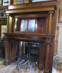 4408 antique quarter sawn oak fireplace surround