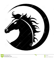 tribal horse head silhouette. Fine Silhouette In Tribal Horse Head Silhouette L