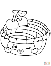 Shy Pie Shopkin Coloring Page Free Printable Coloring Pages