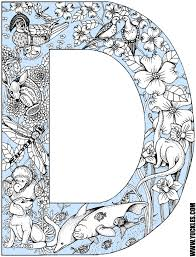 Small Picture Letter D Coloring Page by YUCKLES