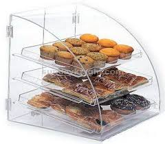 Acrylic Food Display Stands Clear acrylic bread display case Food Display Stand Pinterest 86