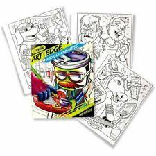 90's nickelodeon cartoons crayola art with edge coloring pages book new sealed. Crayola Art With Edge Coloring Book Ridiculousness 40 Pages For Sale Online Ebay