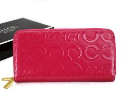 Coach In Signature Large Fuchsia Wallets Arx Kind In Japan