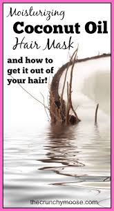coconut oil hair mask and how to get it out of your hair